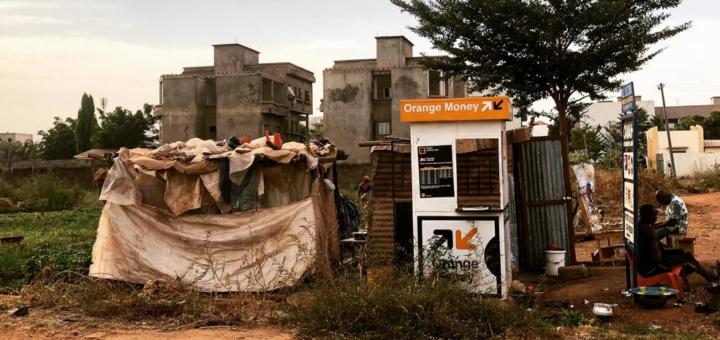 Kiosque Orange Money à Dakar, Sénégal